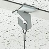 Extra Heavy Duty White Aluminum Drop Ceiling Hooks, One Piece Ceiling Grid Clips - 50 Pack