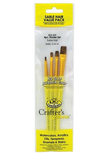 - soft grip student brush sets Sable Hair Value Pack - 4pc Shader Set [Misc.]