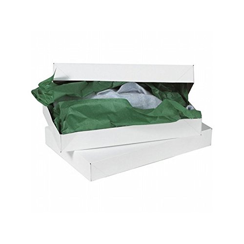 Box Packaging Apparel Box, White, 17'' x 11'' x 2 1/2'' - Case of 50 by Box Packaging