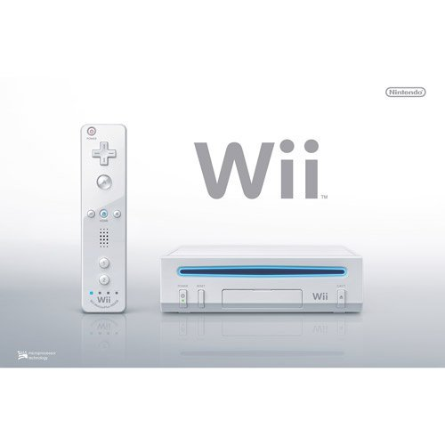 Nintendo Wii Console, White RVL-101 (NEWEST MODEL) [Nintendo Wii] (Wii Console Refurbished)