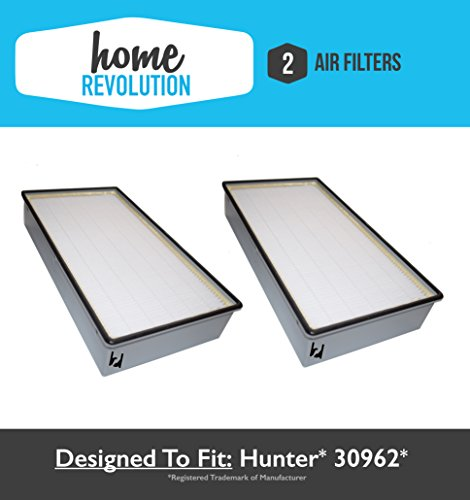 Hunter 30962 Comparable Air Purifier Replacement Filter; Home Revolution Brand Quality Replacement (2)