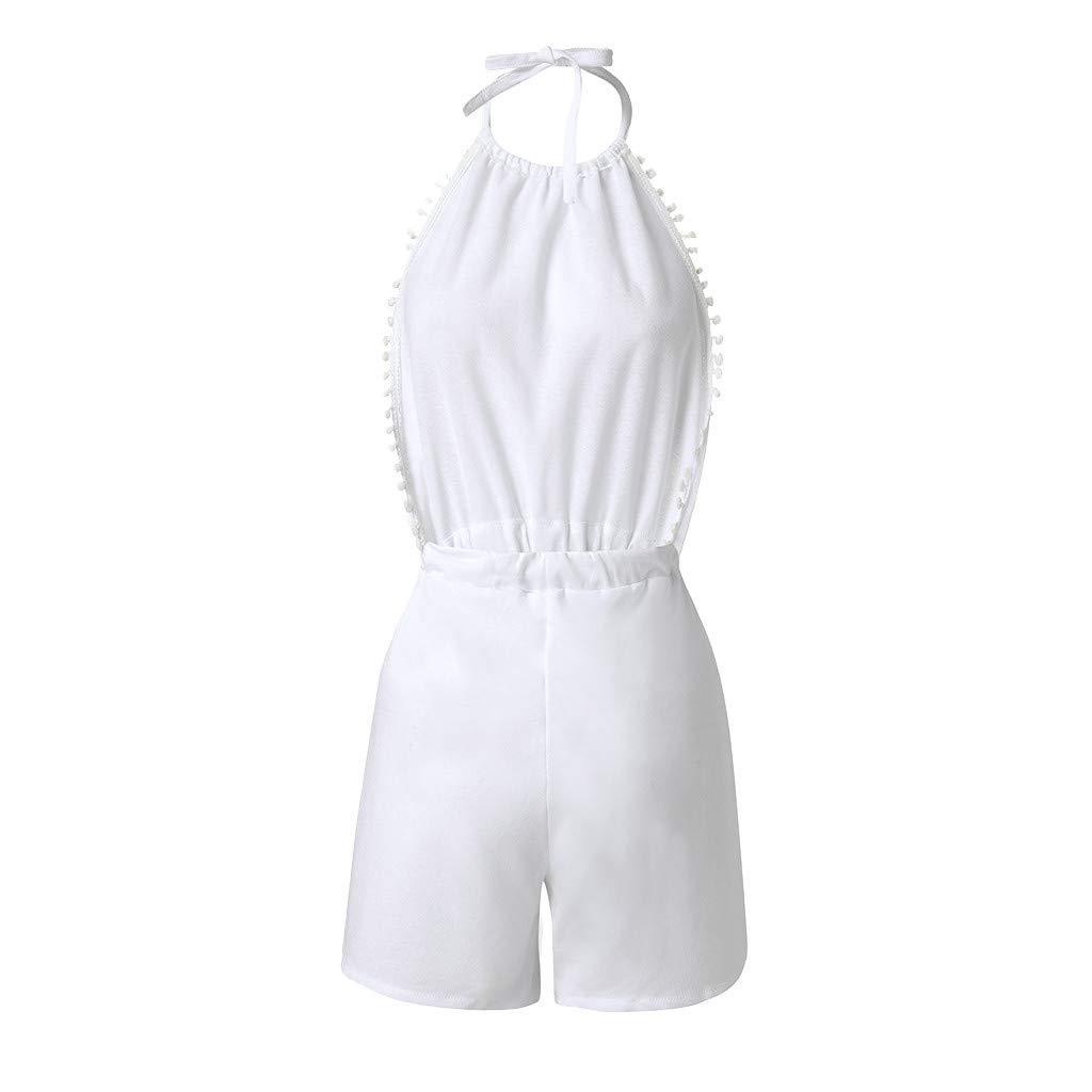 Holywin Combi - Traje de Verano para Mujer, Estilo Informal Blanco ...