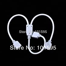 BuyerKit£¨TM)10pcs/lot RGB LED Flexible Strip 1 To 2 Female Connector For SMD 3528 5050 RGB Strip light
