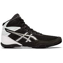 Asics Kid's Matflex 6 GS Wrestling Shoes, K11M, Black/Silver