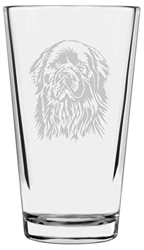Newfoundland Dog Themed Etched All Purpose 16oz Libbey Pint Glass