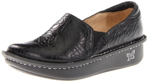 Alegria Women's debra Slip-On,Black Emboss Rose,40 EU/10 M US