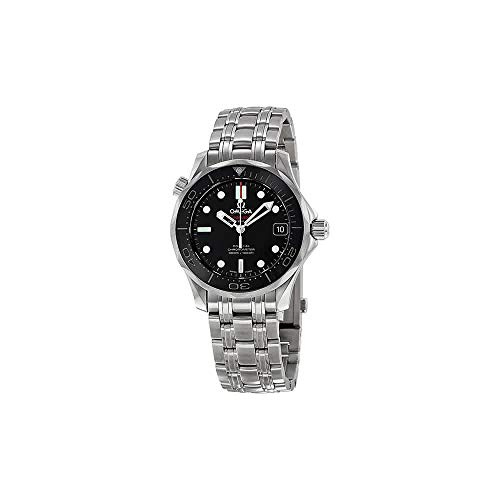 - Omega 212.30.36.20.01.002 Seamaster Automatic Unisex Watch - Black Dial