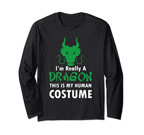 Funny Dragon Halloween Costume Scary Long Sleeve