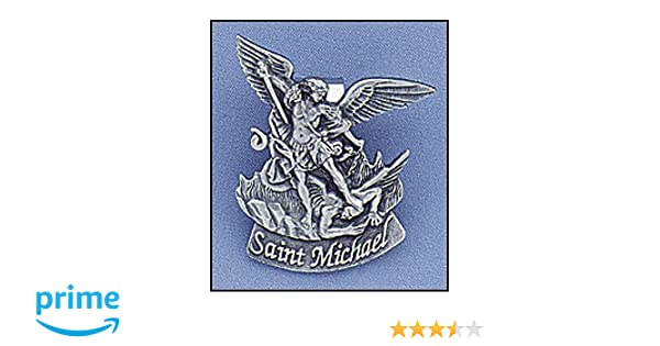 Amazon Com St Michael Visor Clip For Men Or Women Silver Tone