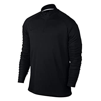 ad87744735cd37 NIKE Men's Dry Academy Drill Soccer Top 1/4 Zip Jacket (S, Black