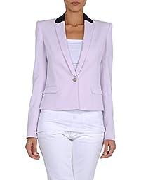 Just Cavalli Women\'s One Button Blazer US 14 / EU 50 Light Purple