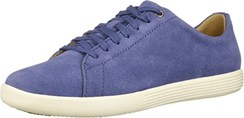 Cole Haan Women's Grand Crosscourt II Washed Indigo Suede/White 5 B US - Indigo Suede Heels