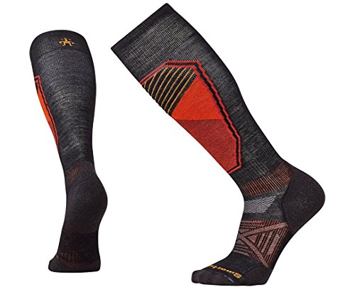 Smartwool Men's PhD Ski Light Pattern Black Socks LG (Men's Shoe 9-11.5)