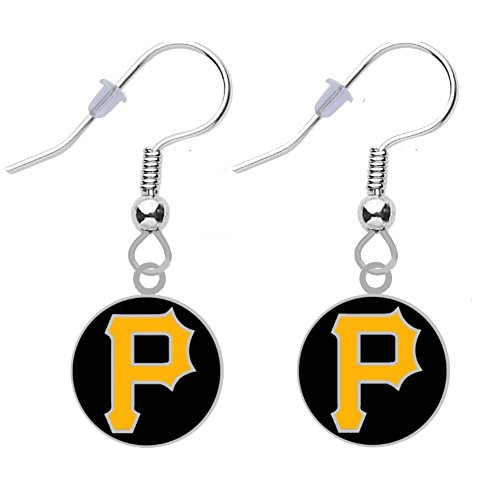 Final Touch Gifts Pittsburgh Pirates Round Logo Earrings ()