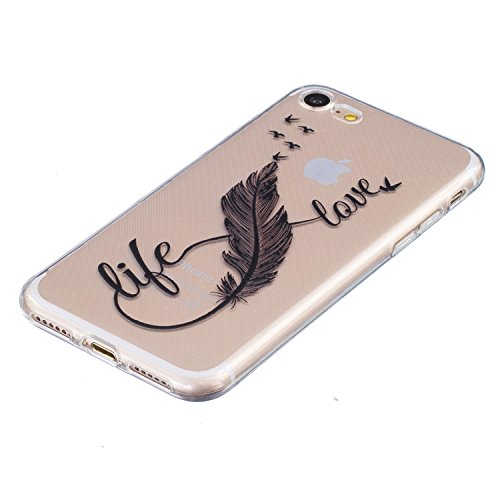 iPhone7 Hülle Pacyer ® TPU Weiche Silikon Dünne Painted Muster Schutzhülle Cover Case Leichte kratzfeste stoßdämpfende Hülle für iPhone7(7)