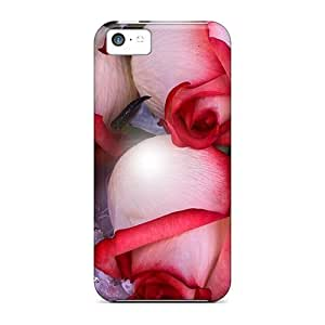 Hard Plastic Case For Ipod Touch 4 Cover Case Back Cover,hot Blood Roses On Lavender Lace Case At Perfect Diy