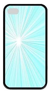 IMARTCASE iPhone 4S Case, Aqua Starburst Radiating Lines Durable Case Cover for Apple iPhone 4S/5 TPU Black