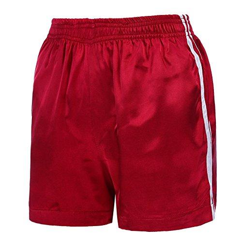 Per Fitness Estate Moda Con Pantaloni Yying Fit Sport Corti Taglie Rosso Vita Donna Pantaloncini Loose Media Forti Righe A Casuale Shorts Tasche Jogging qtwwFd