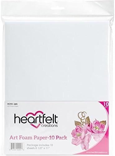 Heartfelt Creations アートフォームペーパー 8.5インチx11インチ 10枚入り Hcfs1465