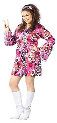 Fun World Women's Feelin' Groovy Adult Costume