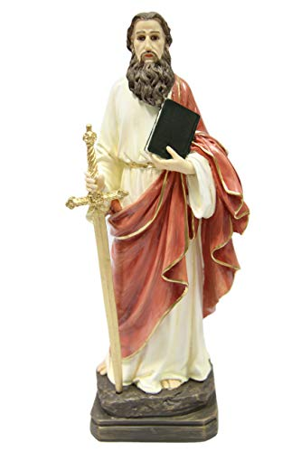 "12"" Saint St Paul the Apostle Religious Catholic Italian Statue Sculpture Vittoria Collection Made in Italy"