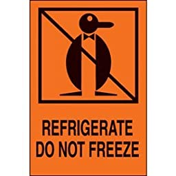 Paper Refrigerate Do Not Freeze International Shipping Label - 6\