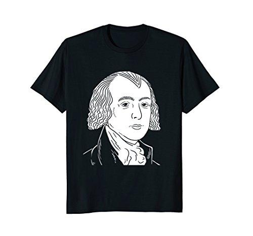 James Madison Portrait T-Shirt – President Gift