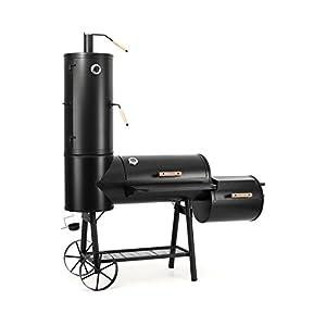 KLARSTEIN Monstertruck - Smoker Grill, Carrello BBQ Rustico per Grigliare, Arrostire, Cuocere, Affumicare, 3 Unitá… 4 spesavip