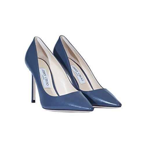 Jimmy Escarpins ROMY100KIDSTORMYBLUE Bleu Femme Choo Cuir x44aqwZO0