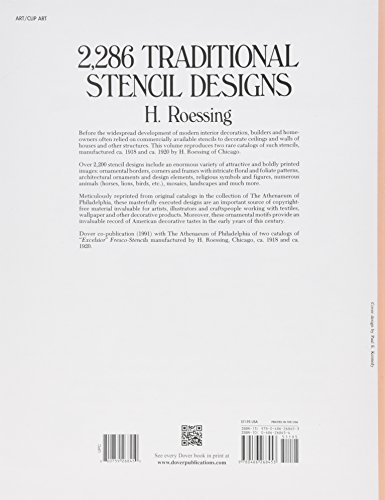 2 286 Traditional Stencil Designs Dover Pictorial Archive Kindle edition by H Roessing Download it once and read it on your Kindle device PC phones or tablets