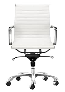 Home Office Desk Chairs    Adjustable ChairsAmazon com  Zuo Modern Lider Office Chair  White  Kitchen   Dining. Silver Office Chair. Home Design Ideas