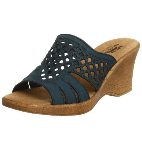 Spring Step Women's Topaz Slide Sandal,Denim,42 M EU / 10.5-11 B(M) (Sandals Spring Denim Step)