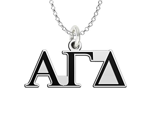 (Alpha Gamma Delta Sterling Silver Antique Letters Charm)