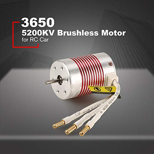 SURPASSHOBBY 3650 5200KV 4 Poles ¢3.175mm Waterproof Internal Rotation Brushless Motor for 1/10 RC Car Boat Accessories❤️