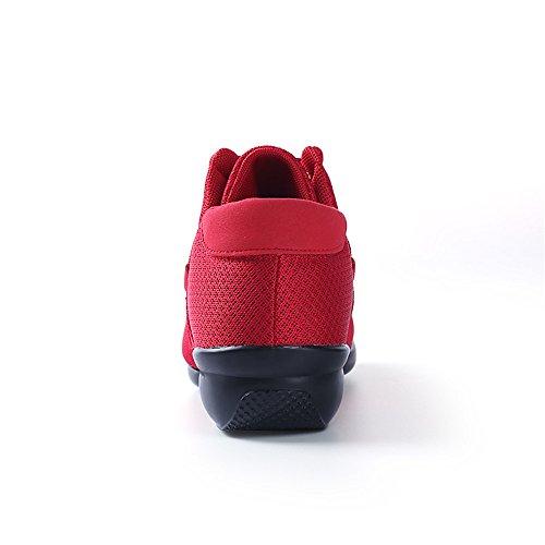 Yuanli Frauen Mesh Ballroom Tanzschuhe Leichte Jazz Schuhe Rot888