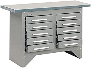 """product image for Kennedy Manufacturing S5410XUGW Work Station, Steel, 20"""" length, 54"""" Width, 34"""" Height, 10 Drawers, Gray"""