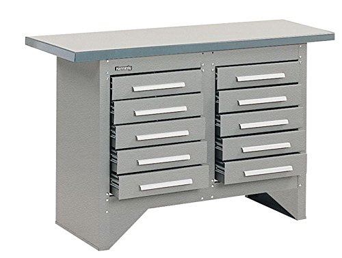 """Price comparison product image Kennedy Manufacturing S5410XUGW Work Station, Steel, 20"""" length, 54"""" Width, 34"""" Height, 10 Drawers, Gray"""