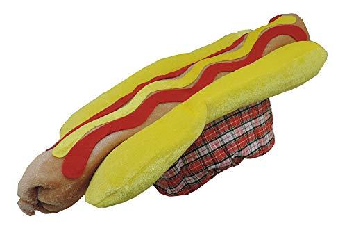 U S T Novelty Hot Dog Brat Hat w/ Mustard & Ketchup Details]()