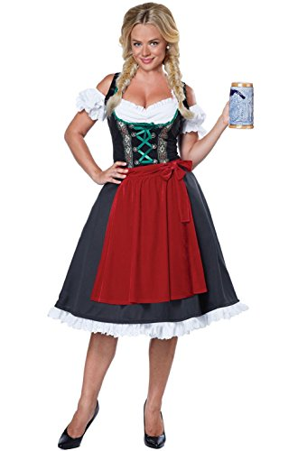 Officer Ladies Costume German (Traditional Oktoberfest German Fraulein Dress Women Adult)