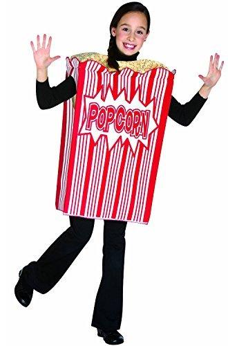 [Rasta Imposta Movie Night Popcorn Children's Costume, 7-10, Red by Rasta Imposta] (Popcorn Costume)