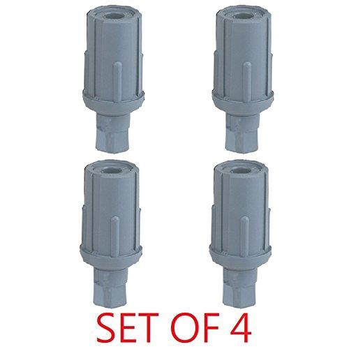 DuraSteel Plastic Bullet Foot, Set of 4, Adjustable Feet, for 1-5/8