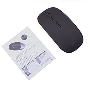 Optimal Shop Ultrathin Silent No-Light 1600DPI Bluetooth V3.0 Wireless Mouse - Black (2 x AAA)