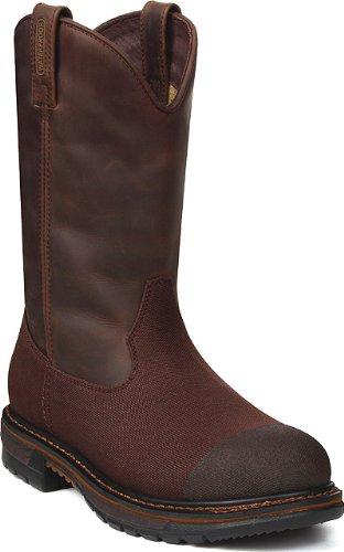 Rocky Wellington Mens (Men's Rocky Original Ride Round Steel Toe Waterproof Wellington Boots Dark Brown, DARK BROWN, 8EE)