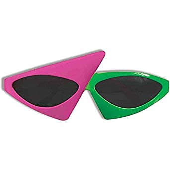 Roy Purdy Signature Glasses Neon Green And Pink Novelty Glasses