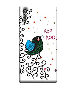 ColorKing Sony Xperia XZ Case Shell Cover - Bird Kookoo Multi Color