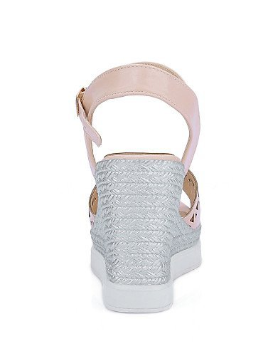 ShangYi Women's Shoes Leatherette Wedge Heel Wedges Sandals Casual Blue / Pink / White Pink lUVkhG