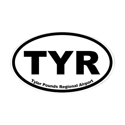 CafePress - Tyler Pounds Regional Airport Oval Sticker - Oval Bumper Sticker, Euro Oval Car Decal - Regional Airport