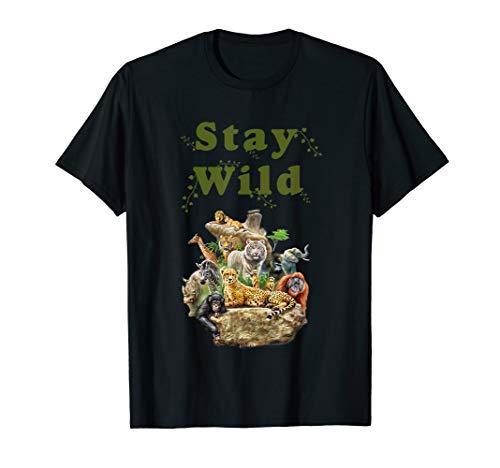 (Stay Wild African Animal Jungle Safari T)