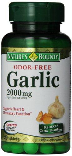 Natures Bounty Odeur ail gratuit 2000 mg - 120 Ea
