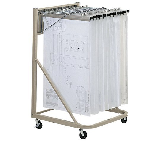 Mayline 9329HD5 Vertical Hanging Files Rolling Stand with 12 Hangers, Sand Beige Paint by Mayline Group